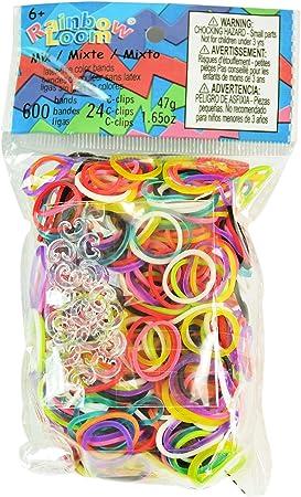 ca 600 Loom Bänder Bands Starter Set  Bunt Mix Gummibänder S-Clips 3 x 200