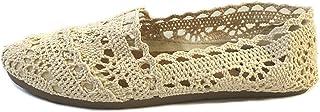 Shoes 18 Womens Canvas Slip on Shoes Flats 5 Colors (7/8 3008A Cream)