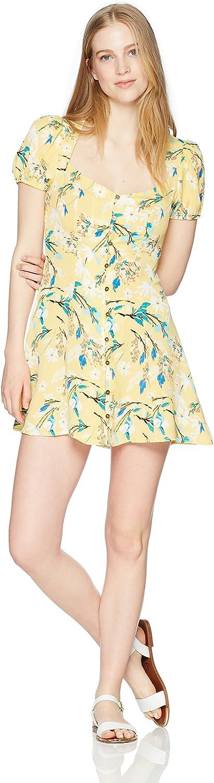 En Creme Womens Short Sleeve Button Up Mini Dress Casual Dress