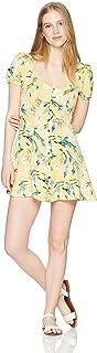 En Créme - Vestido de Manga Corta con Botones para Mujer