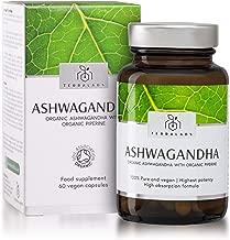Organic Ashwagandha with Organic Black Pepper Vegan Capsules - Certified Organic Ashwagandha KSM-66 by The Soil Association - Ayurvedic Withania Somnifera Root Extract - Made in The UK