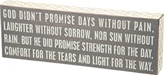 Primitives by Kathy Gray Lattice Trimmed Box Sign, God Didn't