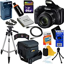 Canon Powershot SX540 HS 20.3MP Digital Camera with 50x Zoom, Built-in Wi-Fi & Full HD 1080p Video (International Version) + NB-6L Battery & AC/DC Charger + 10pc 64GB Deluxe Accessory Kit w/HeroFiber
