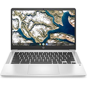 "2020 Flagship HP 14 Chromebook Laptop Computer 14"" HD SVA Anti-Glare Display Intel Celeron N5000 Processor 4GB DDR4 64GB eMMC Backlit WiFi Webcam Chrome OS"