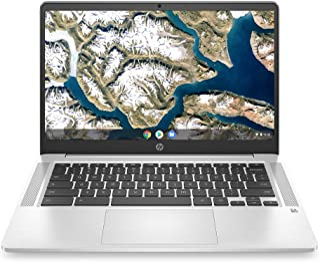 2020 Flagship HP 14 Chromebook كمبيوتر محمول 14 بوصة HD SVA شاشة مضادة للوهج انتل سيليرون N5000 معالج 4GB DDR4 64GB eMMC ا...