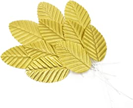 Silk Leaves for Artificial Flower Making & Millinery - Gold - 20 Pieces