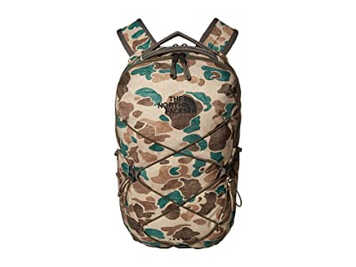 The North Face Jester Backpack (Hawthorne Khaki Duck Camo Print/New Taupe Green) Backpack Bags