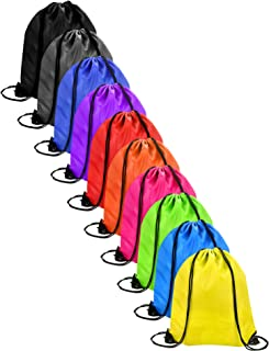 AKORD AKORD 10 Pieces Drawstring Bag Sack Pack Cinch Tote Kids Adults Storage Bag for Gym Traveling Bolsa de Cuerdas para el Gimnasio 43 Centimeters (Multicolour)