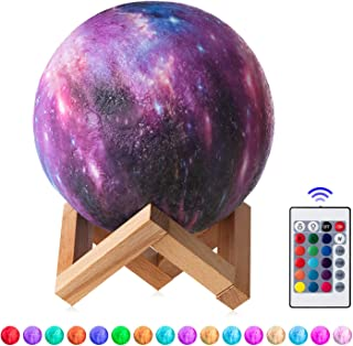 3D Galaxy Star Moon Night Light Lamp for Kids Nursery Women Men Girls Sister Friends Birthday Gifts