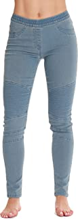 Denim Jeggings for Women with Pockets Comfortable Stretch Jeans Leggings