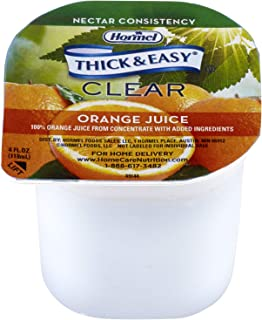 Hormel Drink Thick & Easy Orange Juice (Nectar Consistency), 4-Ounce Portion Control Cups (Pack of 24)