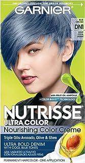 Garnier Nutrisse Ultra Color Nourishing Hair Color Creme, DN1 Light Cool Denim (Packaging..