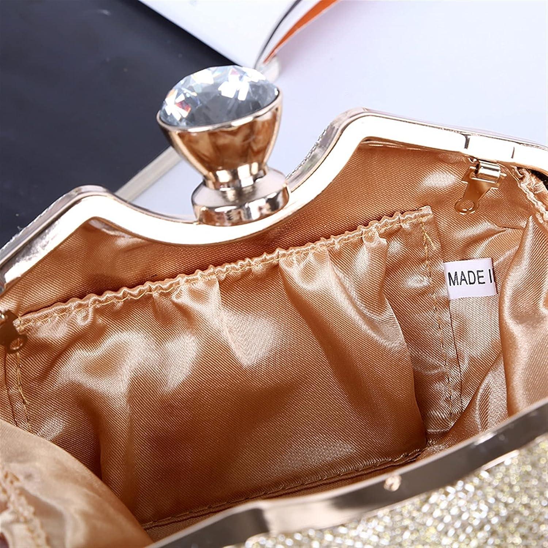 ATHH 2021 Newest Crystal Diamond Chain Evening Bag Rhinestone for Women Formal Bridal Wedding Clutch Purse Prom Cocktail Party Handbags