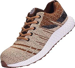 Zapatos de Seguridad para Hombre Mujer Transpirables Zapatos de Trabajo con Punta de Acero, Talla 36-46