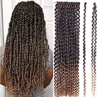 7Packs Passion Twist Crochet Hair Pre Looped Water Wave Crochet Braids Synthetic Bohemian Braid Crochet Hair (18 Inch, T27)