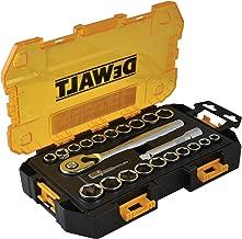 DEWALT Drive Socket Set, SAE/Metric, 1/2-Inch, 23-Piece (DWMT73813)