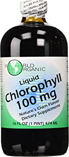 World Organics Chlorophyll Supplement, 100 mg, 16 Ounce