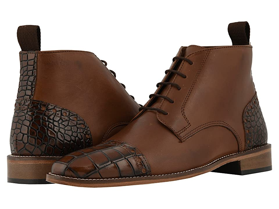 Stacy Adams Franco Cap Toe Lace-Up Chukka Boot (Scotch) Men