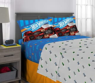 Franco Kids Bedding Super Soft Microfiber Sheet Set, 4 Piece Full Size, Hot Wheels