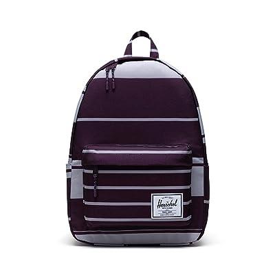 Herschel Supply Co. Classic X-Large (Prep Stripe Blackberry Wine) Backpack Bags