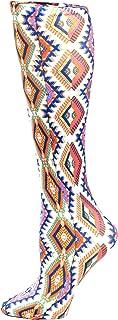 Celeste Stein Therapeutic Compression Socks, Cream Aztec, 8-15 Mmhg, Mild