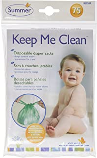 Summer Keep Me Clean Disposable Diaper Sacks Travel Pack, 75-Count