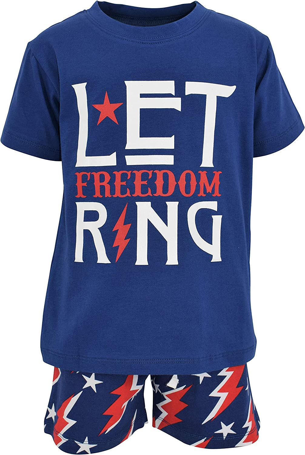 Unique Baby Boys Let Freedom Ring Patriotic 4th of July Shorts Set