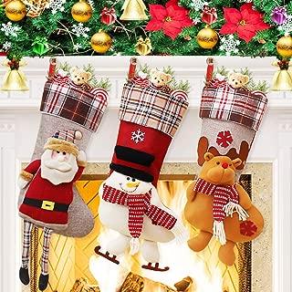 Dreampark Christmas Stockings, Big Size 3 Pcs 18