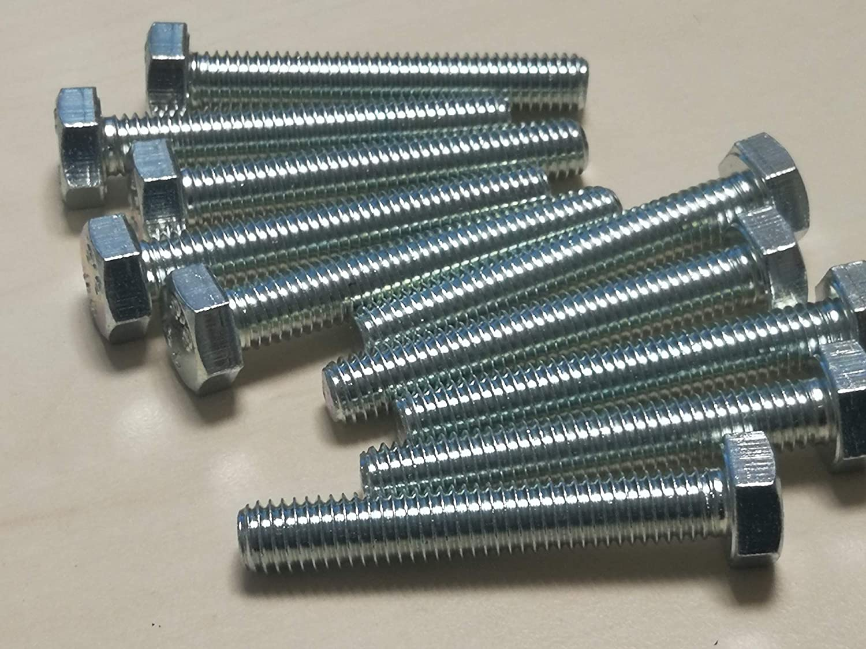 DIN 933 Sechskantschrauben 8.8 verzinkt M8 x 100 mm 10 St/ück
