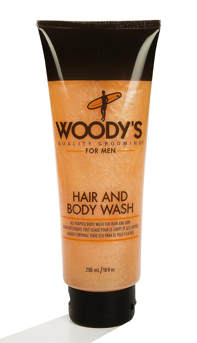 フリンジあたたかいマークダウンWoody's Quality Grooming for Men Hair and Body Wash 10 Ounces