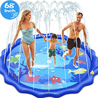 INNOCHEER Sprinkler Splash Pad for Kids Outdoor Play, 68 Inch Extra Large Children's Sprinkler Pool Water Wading Pool Summer Toys for Boys Girls 3+ Years Up