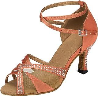 Miyoopark Women's TH165 Custom Make Satin Wedding Ballroom Latin Taogo Dance Sandals