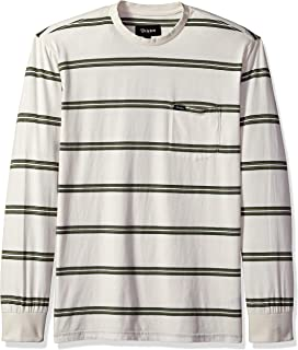 Brixton Men's Hilt Long Sleeve Washed Tailored Fit Pocket Knit Tee