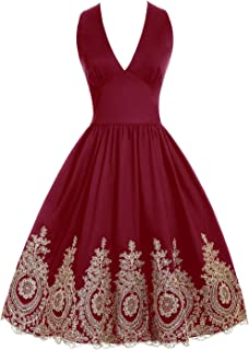 Homecoming Dresses 2018 Retro Floral Lace Applique Swing Cocktail Dress