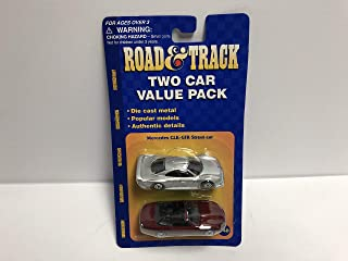 Mercedes CLK-GTR Street Car and Jaguar XK8 & Track Two Car Value Pack diecast