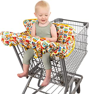 Homeries Shopping Cart Cover for Babies & Toddlers - High Chair Seat Cover for Restaurants & Homes - with 2 Toys Attached ...