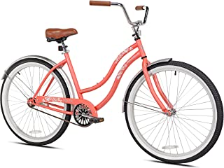 "Pedal Chic Women's 26'' Coral Crush Cruiser Bicycle, 18.75""/One Size"