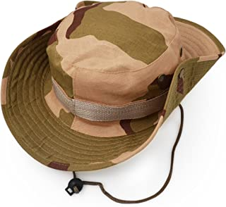 Outdoor Wide Brim Sun Protect Hat, Classic US Combat Army Style Bush Jungle Sun Cap for Fishing Hunting Camping