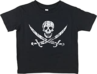 how-z-it Pirate Flag Jolly Roger Calico Jack Toddler Kids T Shirt