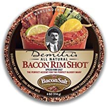 Demitri's Bacon RimShot, Spiced Rim Salt, 4 Ounce Tin
