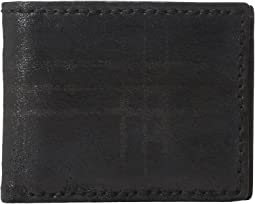 John Varvatos Star U.S.A. - Plaid Printed Slim Fold Wallet