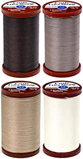4 Color Bundle of COATS & CLARK Extra Strong Upholstery Thread - 150 yards each (Chona Brown, Driftwood, Hemp & Natural)