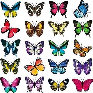 20 Pièces Autocollants de Fenêtre Papillon Décalques Fenêtre pour Anti-Collision Prévenir Les Impacts d'oiseaux sur Les Vi...