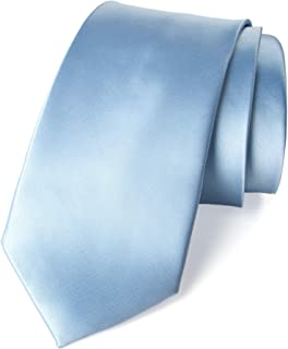 Men's Solid Color Satin Microfiber Tie, Regular and Skinny Width