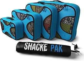 Shacke Pak - 5 Set Packing Cubes - Travel Organizers with Laundry Bag (Aqua Teal)