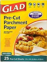 Glad Pre-Cut Parchment Paper, Pre-Cut-25 Count, White