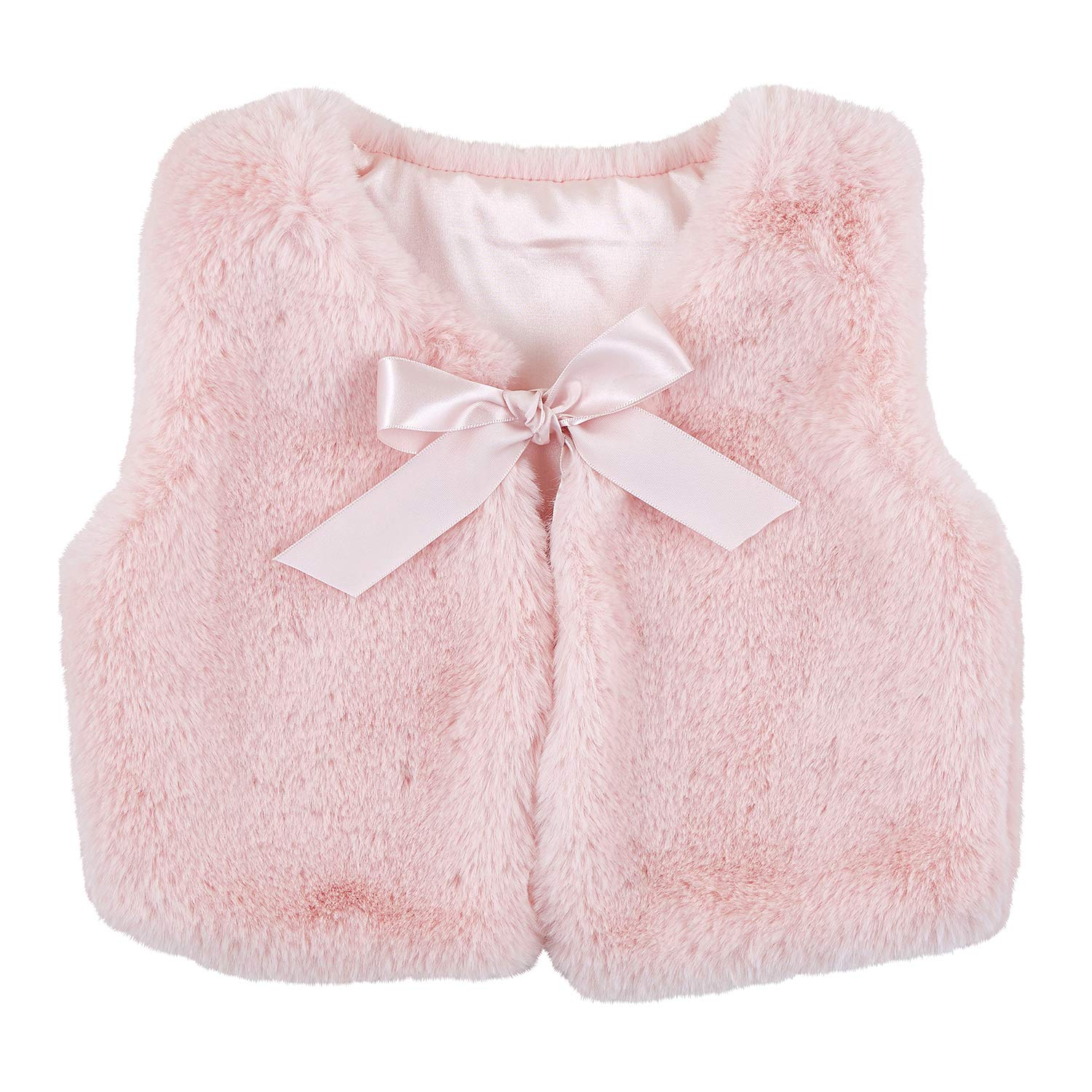 Stephan Baby Faux Fur Collection, My Little Faux Fur Vest, Pink, Fits 6-18 Months : Baby