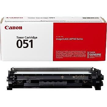 Canon Genuine Toner Cartridge 051 Black (2168C001), 1-Pack, for Canon imageCLASS MF264dw, MF267dw, MF269dw, LBP162dw Laser Printers, 1 Size (Toner 051 Standard)