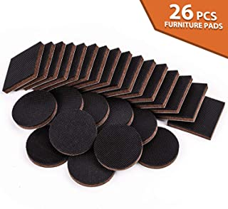 Non Slip Furniture Pads 26PCS Rubber Furniture Grippers, Self Adhesive Anti Skid Furniture Pads, Furniture Floor Protectors Wood Floor Protector for Keep in Place Furniture and Furniture Stoppers