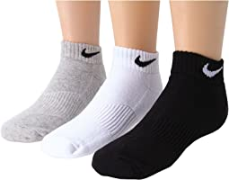 Nike Kids - Cotton Cushion Moisture Management Low Cut 3-Pair Pack (Little Kid/Big Kid)